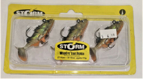 """STORM 2/"""" Assorted Colors /& Weights Wildeye Live Series"""