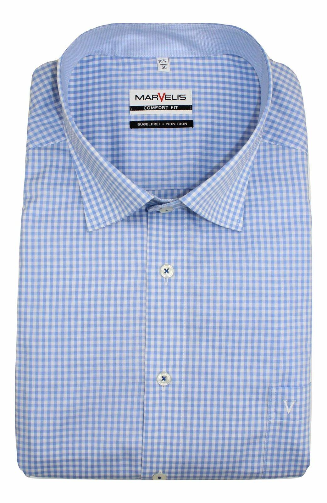 Blue Gingham Spread Collar