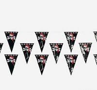 100 Foot Pirate Skull Boys Birthday Party Pennant Garland Flag Banner Decoration