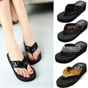 Summer-Women-Sequins-Flip-Flops-Beach-Sandals-Sparkling-Wedge-Platform-Slippers