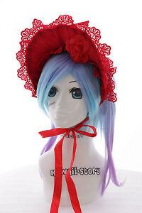 l-213-Lolita-Gotica-Rojo-Red-Encaje-Gorro-Cinta-Pelo-Lazo-Harajuku-Cosplay