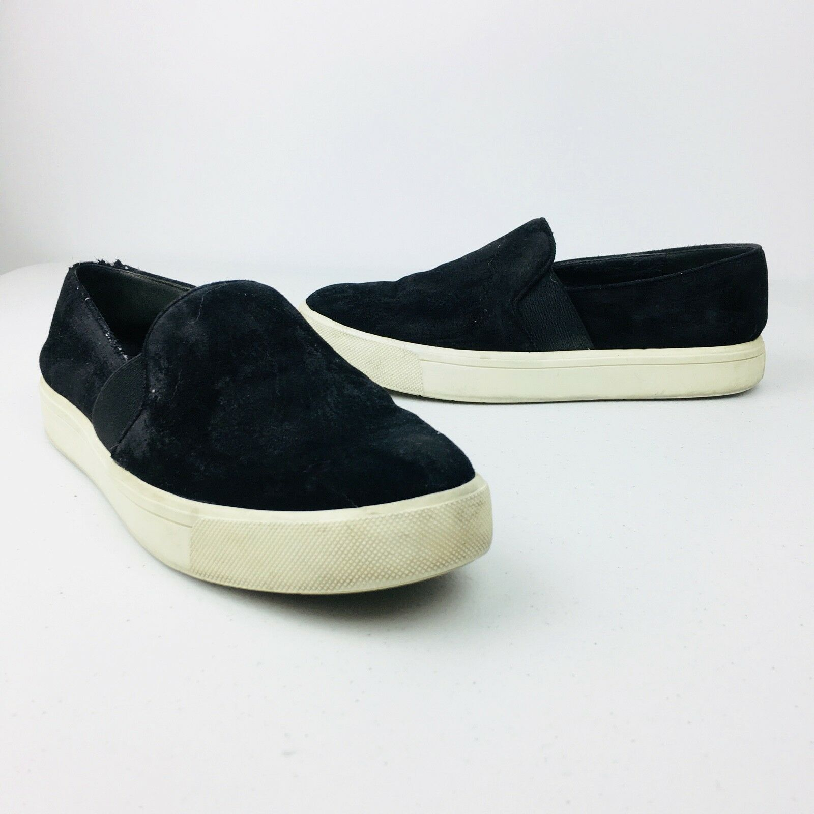 186e253766143 Womens Black Suede shoes Sneakers Flats Slip On Casual Platform Size ...