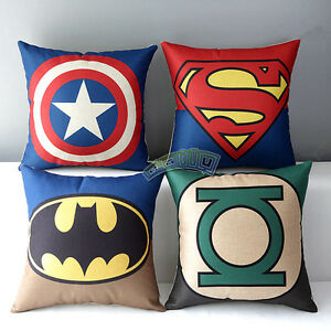 Justice League Throw Pillows : New Cotton Linen Justice League Hero Throw Pillow Case Cushion Cover Decorative