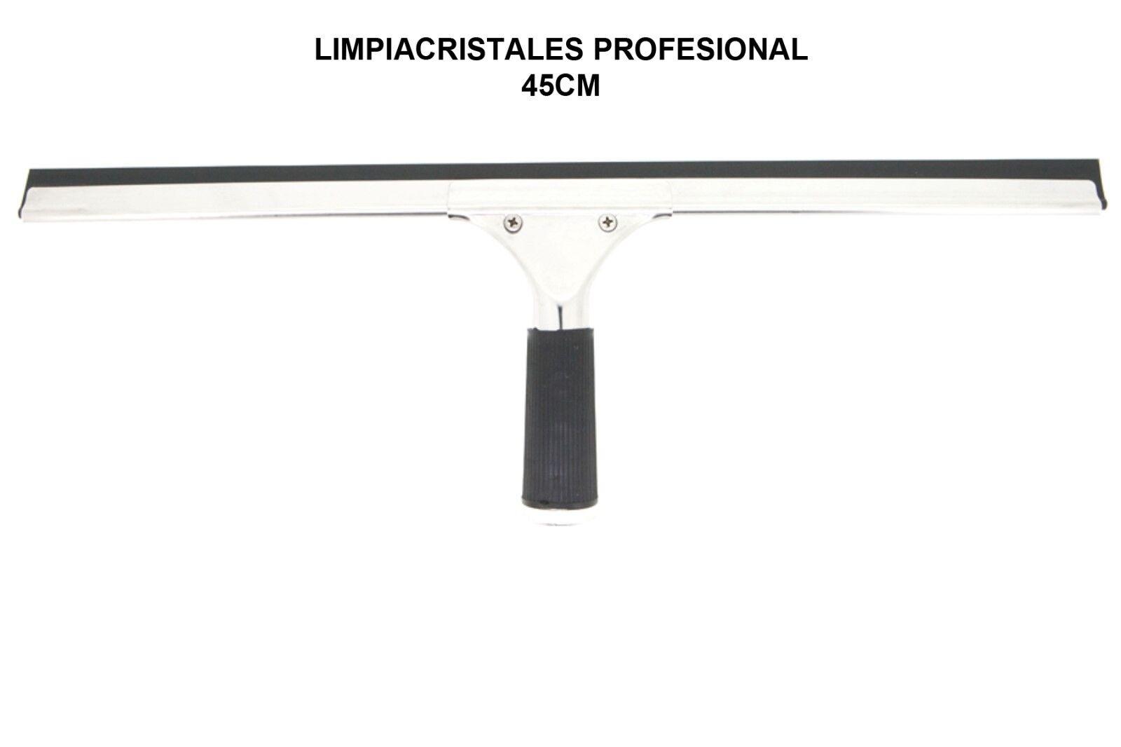 Regleta raqueta limpia vidrios - lunas - cristales profesional con soporte 45...