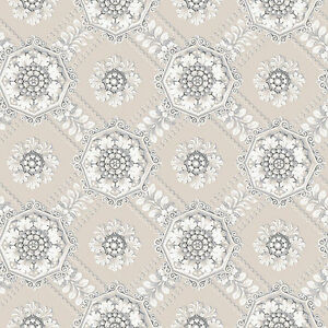 SM30359 Classic Silks 3 Damask Beige Cream Galerie Wallpaper