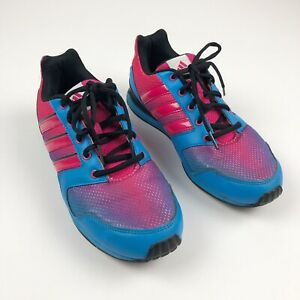 Details about Adidas Adifast Running Shoes Girls Size 5.5 Youth Pink Blue Ortholite Cushion