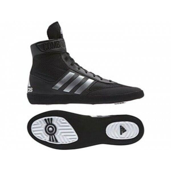 Adidas Combat Velocità 5 Nero argentoo Boxe Stivali Scarpe Allenamento BA8007