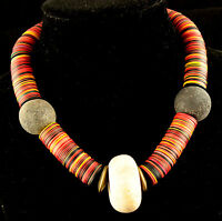 African Style Necklace With Genuine African Beads