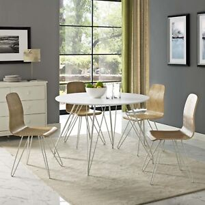Mid-Century-Modern-White-Wood-Grain-Round-Dining-Table-With-Metal-Hairpin-Legs
