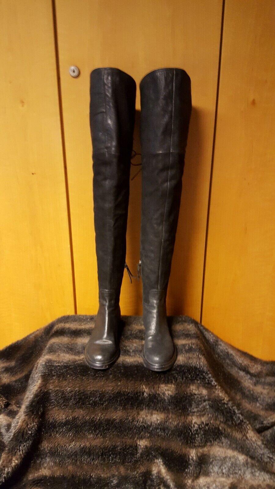 Echt Stiefel Overknee Leder Miu Prada by Miu f970efufl74723