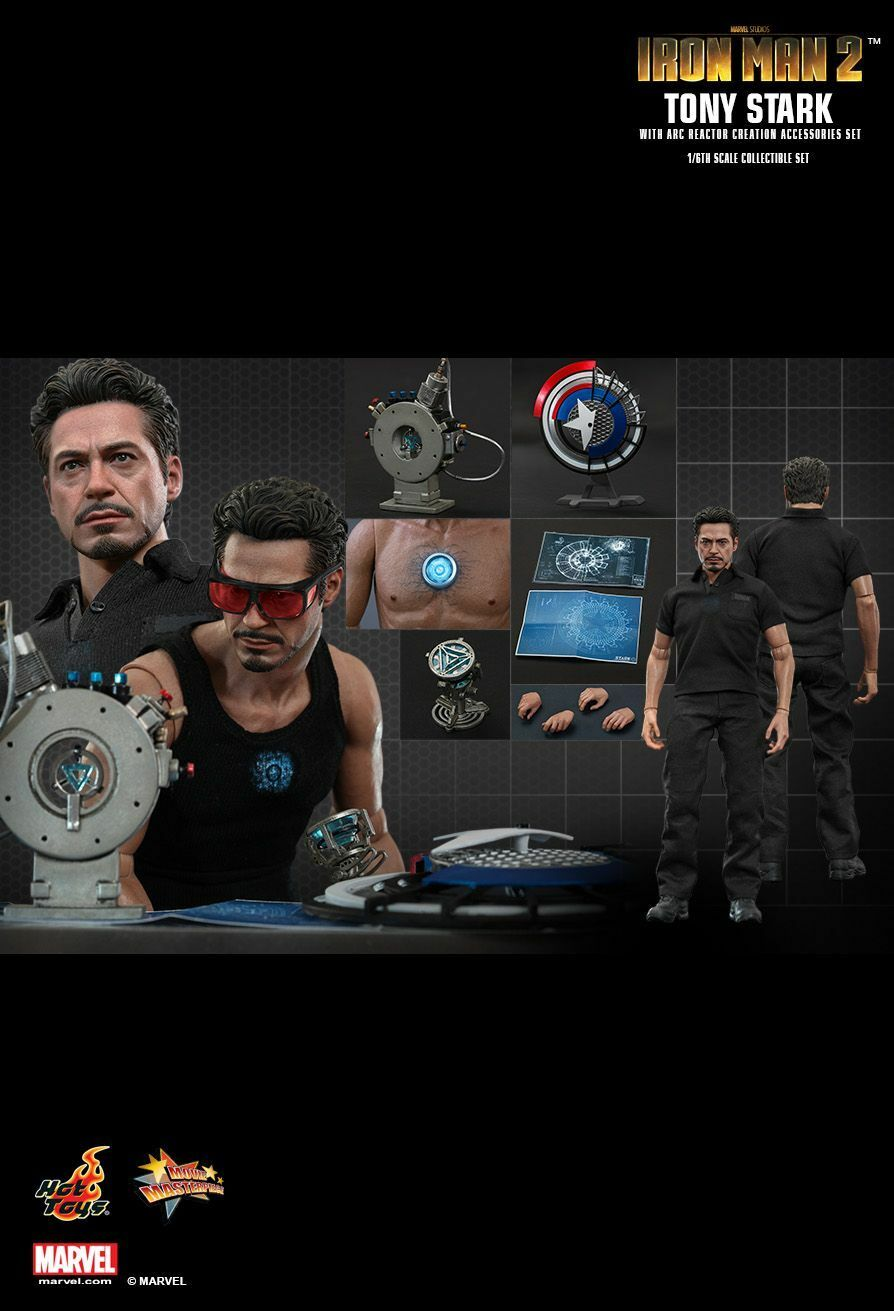 Hot Toys 1 6 Iron Man 2 Tony Stark with with with Arc Reactor Creation Accessories MMS273 5b58af