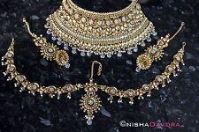 Indian Nupcial Boda Collar conjunto oro distintivo Pieza