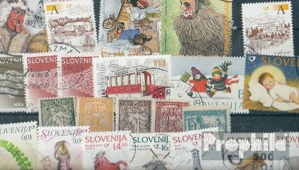 slovenia 25 different stamps