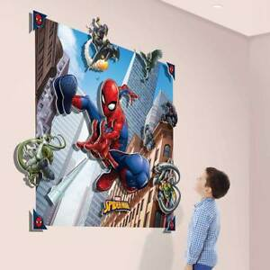 Details zu Fototapete Kinderzimmer 3D Pop Out Tapete Spiderman Wandbild  Kinder Junge Spinne