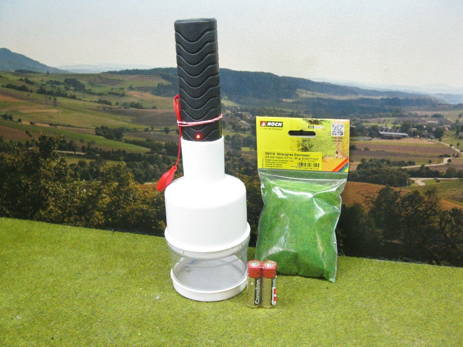 20 Gramm Noch Gras & Elektrostatisches Begrasungsgerät Diorama Grasmeister   W5  | Luxus