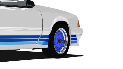 """Mustang Saleen #1 Fox Body High Quality Print 18/""""x 24/"""""""
