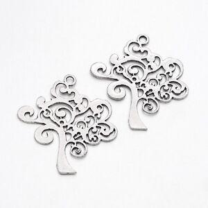 lot-de-5-breloques-charms-pendentifs-perle-scrapbooking-arbre-de-vie-NEUF