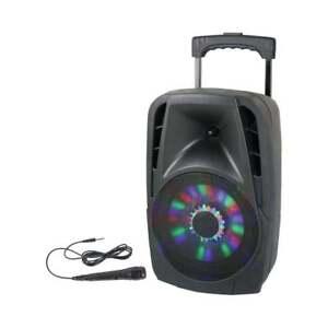 Lotronic PARTY-8LED tragbare DJ Anlage mit USB und Bluetooth
