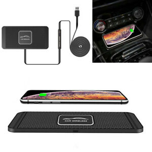 Qi Fast Car Wireless Phone Charger Pad Non Slip Mount Holder For Iphone Samsung Ebay