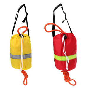 Survival Rescue Throw Bag Throw Line with 52/' Reflective Rope 16mx8mm Red
