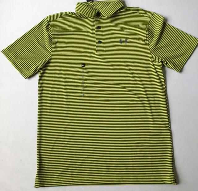 Es Hacer Autorización  Under Armour Men's Golf Polo Heat Gear Yellow Green Stripes 350 1311008  Size S for sale online