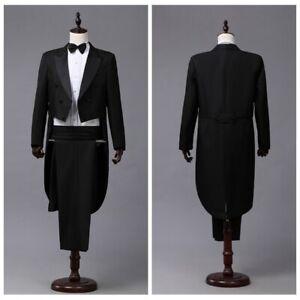 TROUSER DINNER SUIT BLACK FORMAL PROM CRUISE WEDDING DRESS TUXEDO TROUSERS NEW