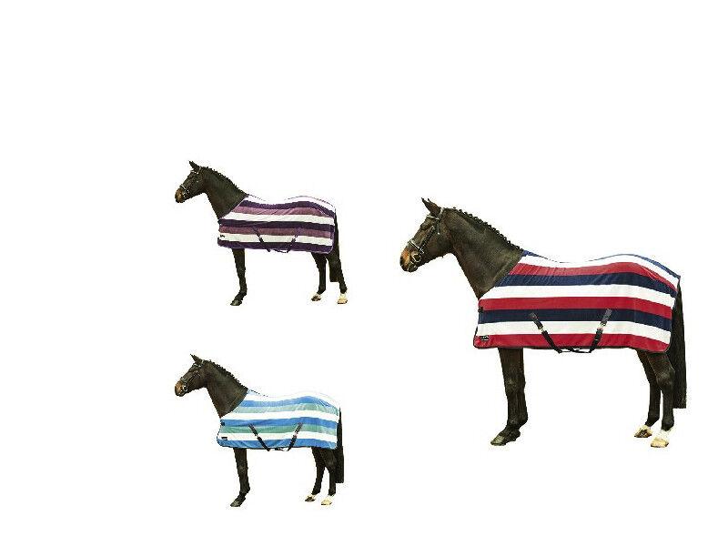 HKM HORSE COB PONY SHOW TRAVEL FLEECE RUG Stable Cooler Colours Sizes FREE P&P