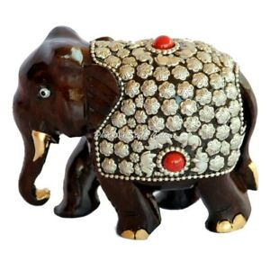 Royal-Hand-Crafted-Indian-Elephant-Meenakari-Painted-Wooden-Sculpture-Statue