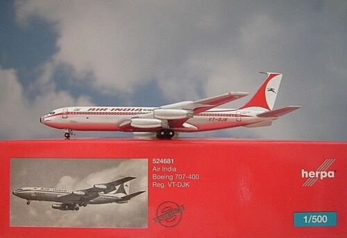 Herpa Wings 1:500 boeing 707-400 Air India VT-DJK 524681 modellairport 500