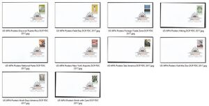 US 5180-5189 WPA Posters DCP (set of 10) FDC 2017