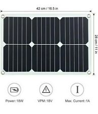 12v Solar Car Battery Charger 18w Trickle Solar Panel Charger Portable