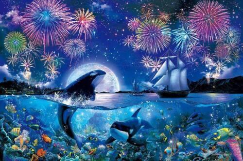5D Diamond Painting Orca Fireworks Kit