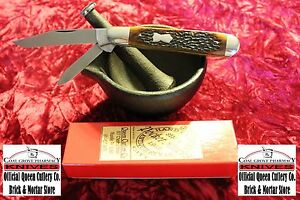 Queen-City-USA-Jigged-Bone-2-Blade-English-Jack-NIB-1095-Carbon-1-of-300