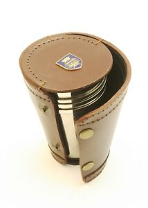 MN Shield Merchant Navy 4 Stacking Stirrup Shot Cups Leather Case NEW BKG58 5VaYhN8k-09101230-635562565