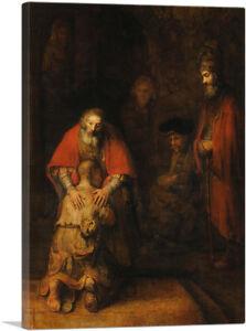 ARTCANVAS The Return of the Prodigal Son Canvas Art Print by Rembrandt van Rijn