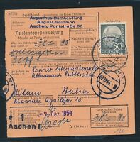 88486) Auslands - Postanweisung Heuss EF 50PF Aachen 1 - Italien