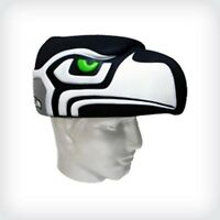 Nfl Foam Hat hawk Head, Seattle Seahawks,