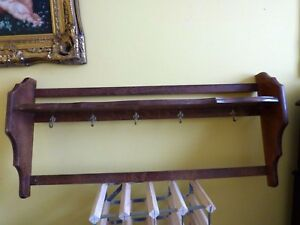 Wooden-Kitchen-Wall-Display-Rack-Shelf-Wall-Mount-rustic-vintage