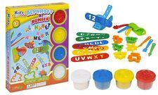 23pc Play Dough Kids Tubs Alphabet ABC Number Cutter Press Shaper Children Xmas