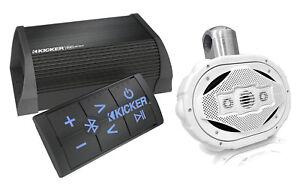 Kicker-Bluetooth-2Channel-Amplifier-Lanzar-6x9-4Way-300W-Wake-Board-Speaker