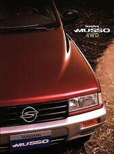 SsangYong Musso 4WD Prospekt engl brochure Auto PKW Autoprospekt Broschüre Korea
