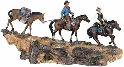 "12"" Inch Wide Cowboys Rope Pack String Statue Western Figurine Country Donkey"