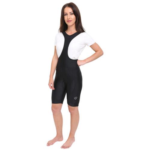Dhera Donna Salopette da Ciclismo Imbottitura Gel Pantaloni Pantaloncini per