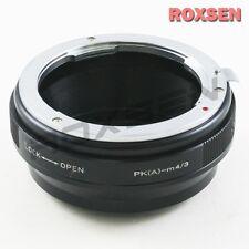 Pentax PK K mount DA AF lens to Micro 4/3 Adapter M4/3 E-P5 OM-D G7 GX7 GH4 MFT