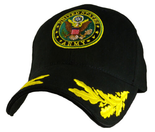 ARMY WITH EGGS LOGO BLACK  EMBROIDERED MILITARY HAT CAP