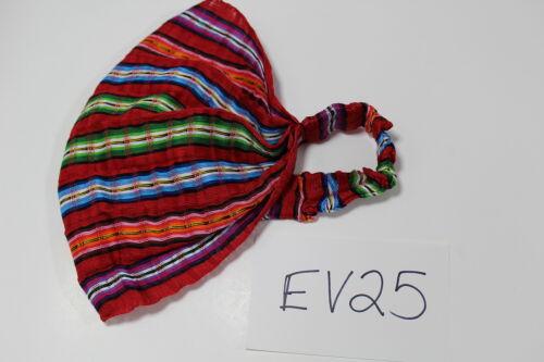Guatemalan HEADBAND Hand Made Cotton Yoga Head Band Colorful Bright EV25