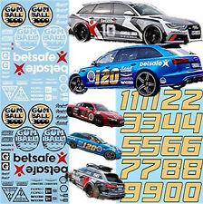 Audi Gumball 3000 Rallye Decals Street Racing 1:43 Decal Abziehbilder