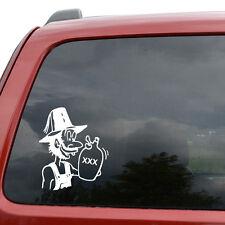 "Moonshine Funny Car Window Decor Vinyl Decal Sticker- 6"" Tall White"