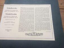 X 1029 FERDINAND PAGANI Tchaikovsky / Mendelssohn Violin Concertos vinyl LP