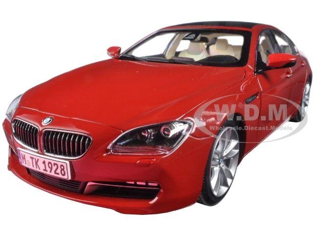 BMW F06 650i GT rosso 1 18 Diecast Modelo Coche por Paragon 97033
